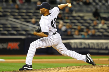 Mariano Rivera pitches against on April 30 against the Orioles just days before tearing his ACL