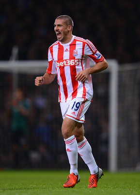 Stoke striker Jon Walters scored twice in the 3-1 win over Liverpool.