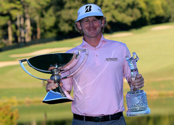 Brandt Snedeker had a big smile and the trophies at the Tour Championship.