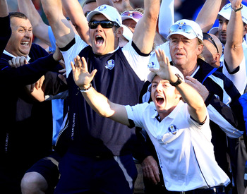 The Europeans did all the celebrating after winning the Ryder Cup.