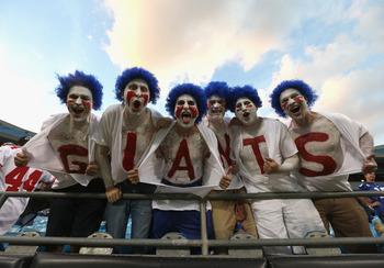 A few crazy New York Giants fans.