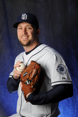 PEORIA, AZ - FEBRUARY 18:   Kevin Quackenbush #84 of the San Diego Padres poses during MLB photo day February 18, 2013 at the Peoria Stadium in Peoria, Arizona. (Photo by Rich Pilling/Getty Images)