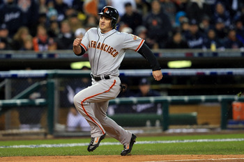 Ryan Theriot scored the winning run in Game 4 of the World Series.