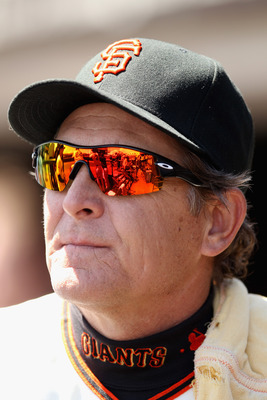 Pitching coach Dave Righetti is highly respected in the Giants' organization.
