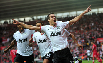 Robin van Persie became an instant hit at Old Trafford.