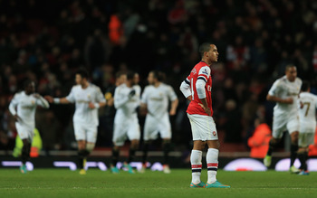 The atmosphere at the Emirates turned sour against Swansea.