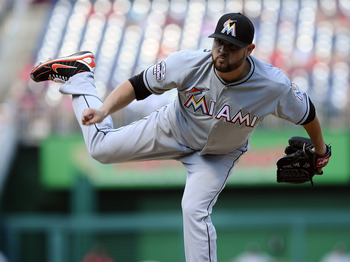 Starting pitcher Ricky Nolasco is now the highest paid Marlin at $9 million next season.