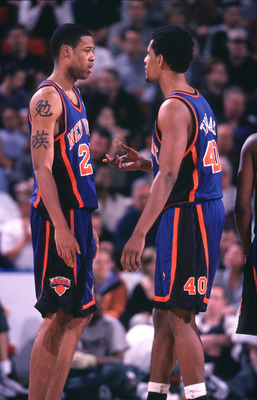 Two Knicks elder statesmen, circa 2000.