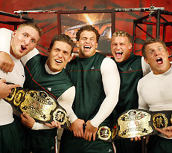 Ziggler was part of the Spirit Squad as Nicky. Photo Courtesy of WWE.com