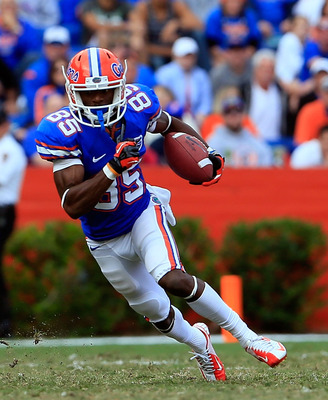 Frankie Hammond Jr. was the Gators' most experienced wideout.