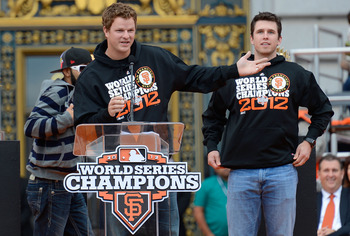 Matt Cain and Buster Posey will lead the Giants into 2013.