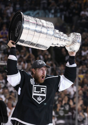 Jeff Carter finally got to hoist the Stanley Cup in 2012.