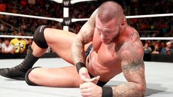 Randy Orton is left lying. (Courtesy of WWE.com)