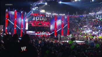 The set of Raw 1000 (Courtesy of bleacherreport.com)