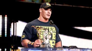 John Cena wins the 2012 Superstar of the Year Slammy Award. (Courtesy of WWE.com)