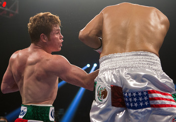 Saul &quot;Canelo&quot; Alvarez batters another nameless fighter from below his weight division.