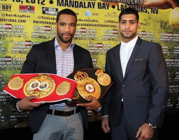 Lamont Peterson and Amir Khan promote what was supposed to be their rematch.
