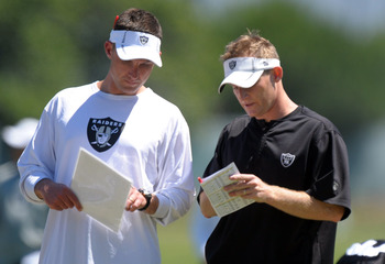 Dennis Allen and Jason Tarver will decide on a defensive system to build around.