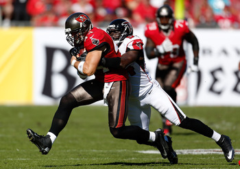 Atlanta's defense had problems defending area between hashes in first meeting at Tampa Bay.