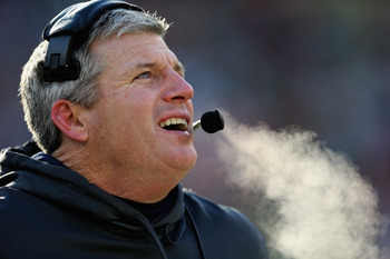 Mike Munchak might be cold in this picture, but his seat is hot.