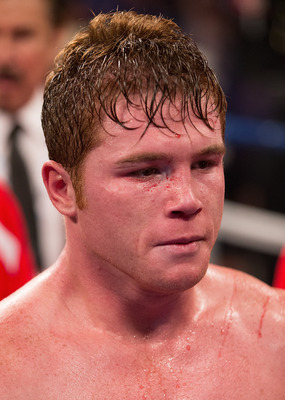 Canelo puts his game face on.