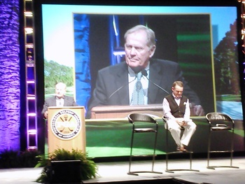 Jack Nicklaus headlined the 2012 Show and spoke candidly about the game and business of golf.