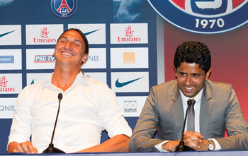Ibra is all smiles thinking about the nobodies he is about to take to school