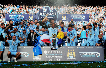 Manchester City won the 2011-12 Premier League title with a late winner against QPR