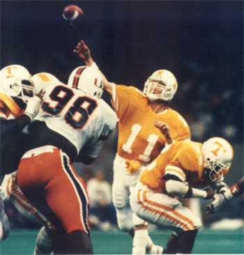 Daryl Dickey lead the Vols in a win over heavily favored Miami.