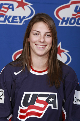 Heading into the second half of the CWHL season, American born Hilary Knight leads the league in scoring (Photo from USA Hockey)