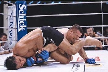 Antonio Rodrigo Nogueira secured a slick armbar after taking a serious pounding from famed striker Mirko Cro Cop.