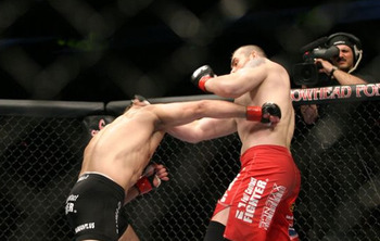 Tim Sylvia scored a shocking knockout when he finished Andrei Arlovski shortly after eating a huge punch. Photo c/o Sherdog.com.