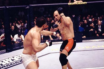 Randy Couture's second victory over Pedro Rizzo was easily the greatest performance of his career in the heavyweight division. Photo c/o Susumug.com.