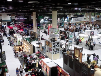 Floor of the 2012 PGA Merchandise Show after the closing bell at 3 p.m. on Saturday!