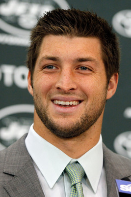 Tim Tebow at his introductory press conference