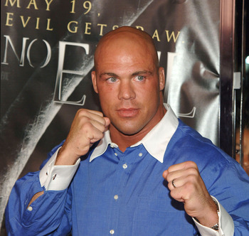Kurt Angle, WWE Smackdown Superstar during 'See No Evil' Premiere - Arrivals in Los Angeles, California, United States. (Photo by J.Sciulli/WireImage for LIONSGATE)