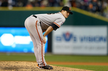 Matt Cain threw a perfect game for the Giants last season.