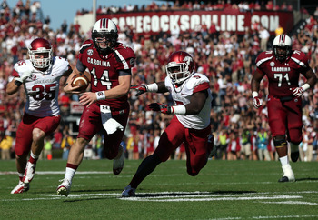 Connor Shaw (14) on the Run