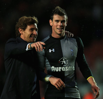 Villas-Boas with Gareth Bale.