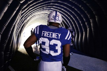 Defensive End- Dwight Freeney of the Indianapolis Colts