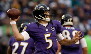 Quarterback- Joe Flacco of the Baltimore Ravens