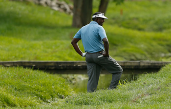 It wasn't all fairways and greens for Vijay Singh in 2012.