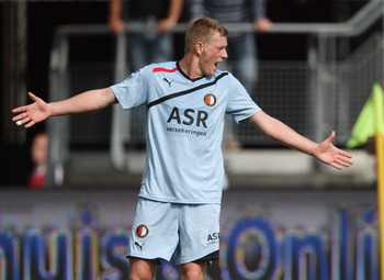 John Guidetti in action in Holland with Feyenoord