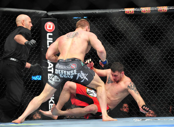 Phil de Fries was punched out hard by rising star Todd Duffee.