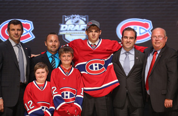 Alex Galchenyuk (center) of the Montreal Canadiens.