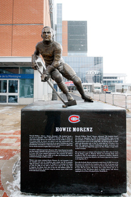 Howie Morenz of the Montreal Canadiens.