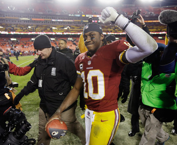 RGIII's knee could be a concern against Seattle.