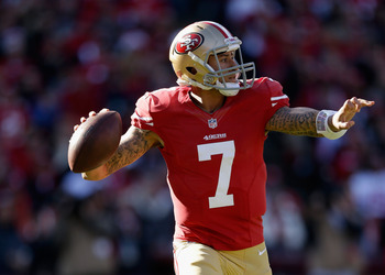 Kaepernick is the least experienced playoff quarterback in 2012.