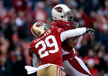Chris Culliver was beaten by Michael Floyd for a 37-yard touchdown.