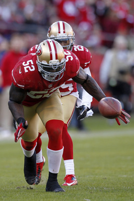 Patrick Willis had a solid game for the 49er defense.